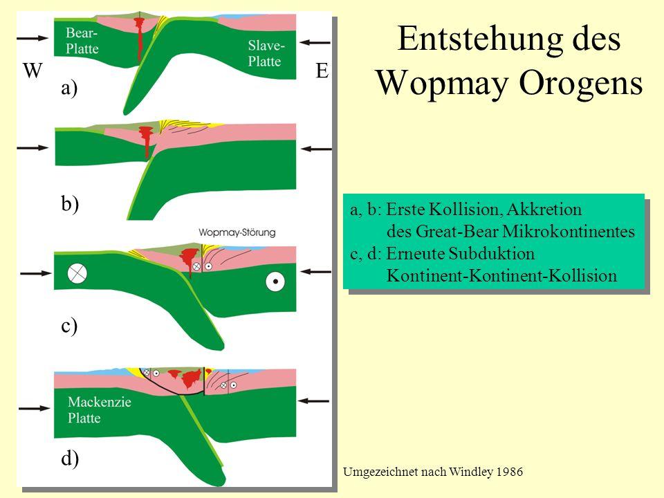 Entstehung des Wopmay Orogens