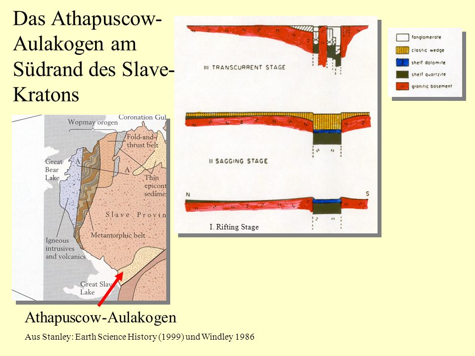 Das Athapuscow-Aulakogen am Südrand des Slave-Kratons