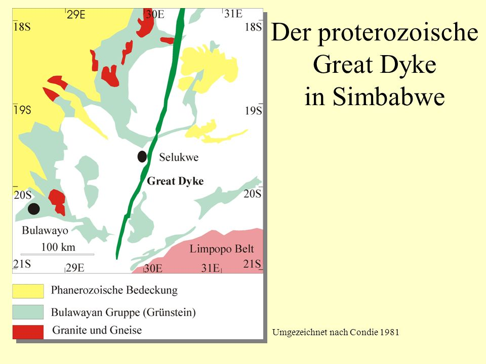 Der proterozoische Great Dyke in Simbabwe