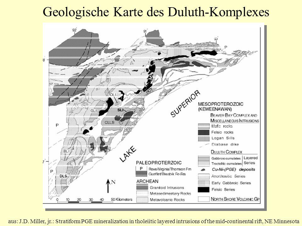 Geologische Karte des Duluth-Komplexes