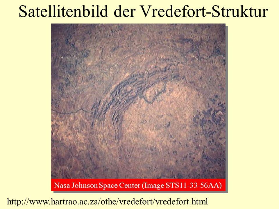 Satellitenbild der Vredefort-Struktur