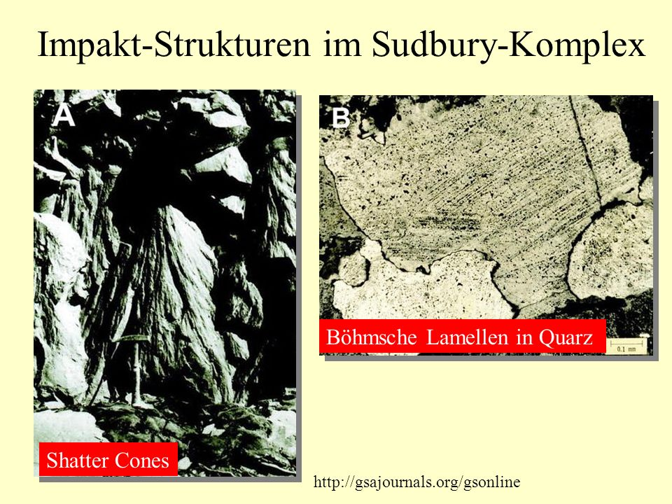 Impakt-Strukturen im Sudbury-Komplex