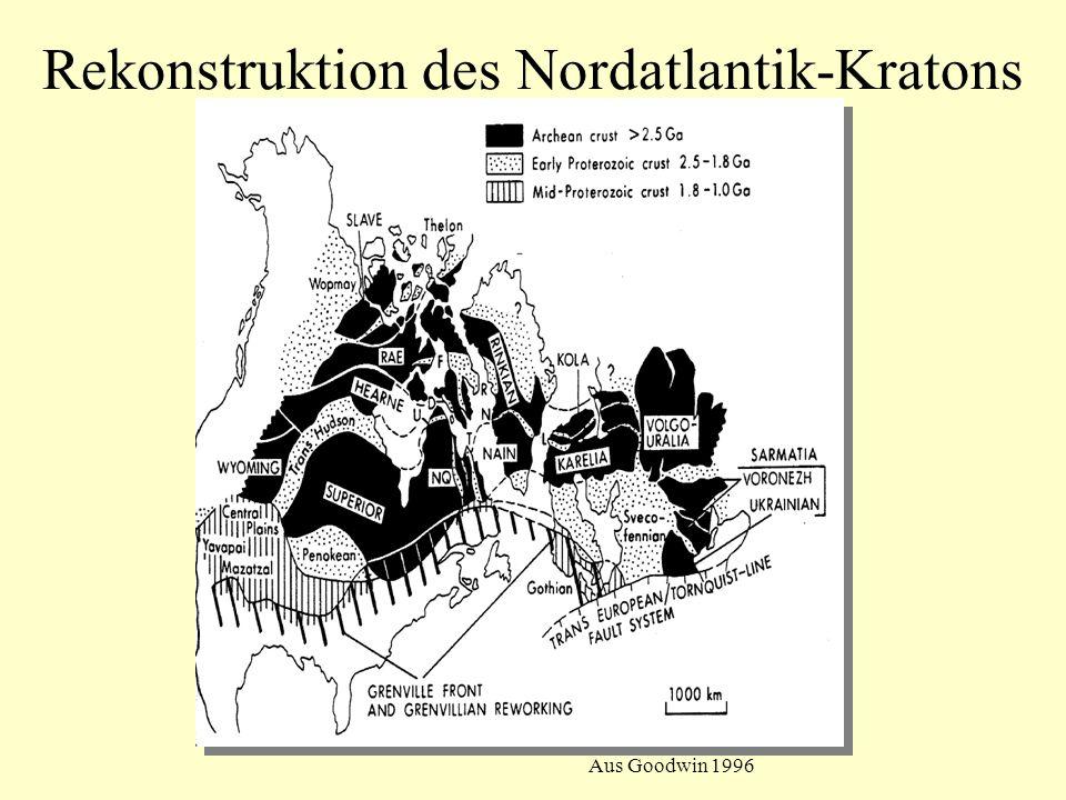Rekonstruktion des Nordatlantik-Kratons