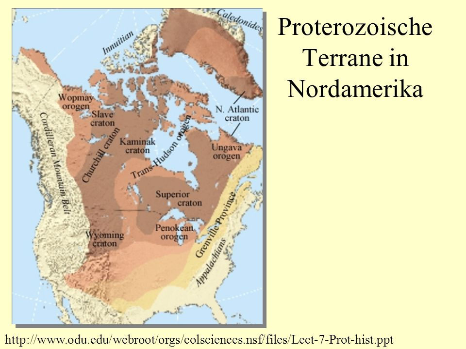 Proterozoische Terrane in Nordamerika