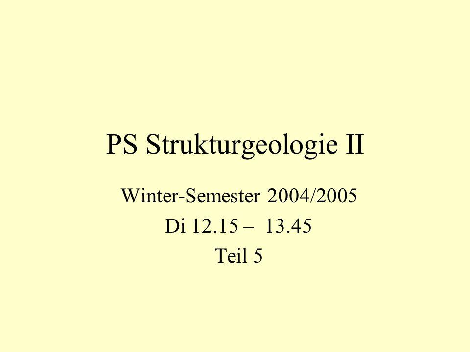 PS Strukturgeologie II