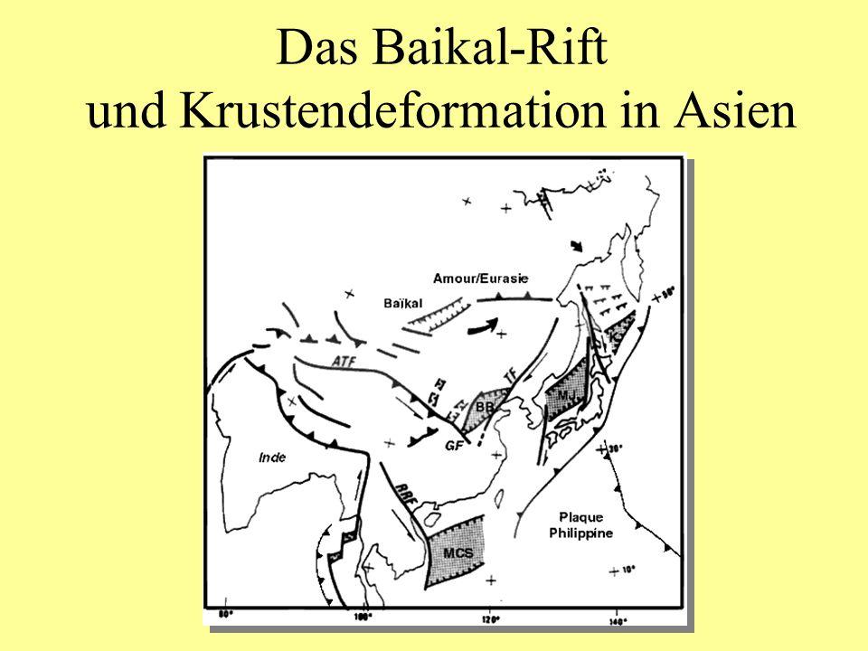 Das Baikal-Rift und Krustendeformation in Asien