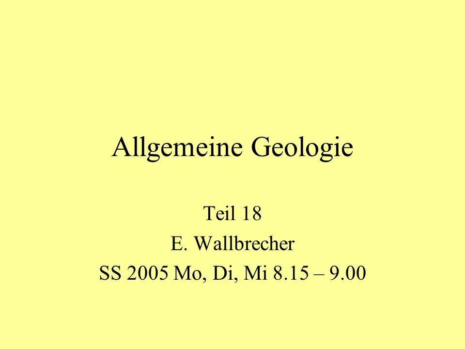 Teil 18 E. Wallbrecher SS 2005 Mo, Di, Mi 8.15 – 9.00
