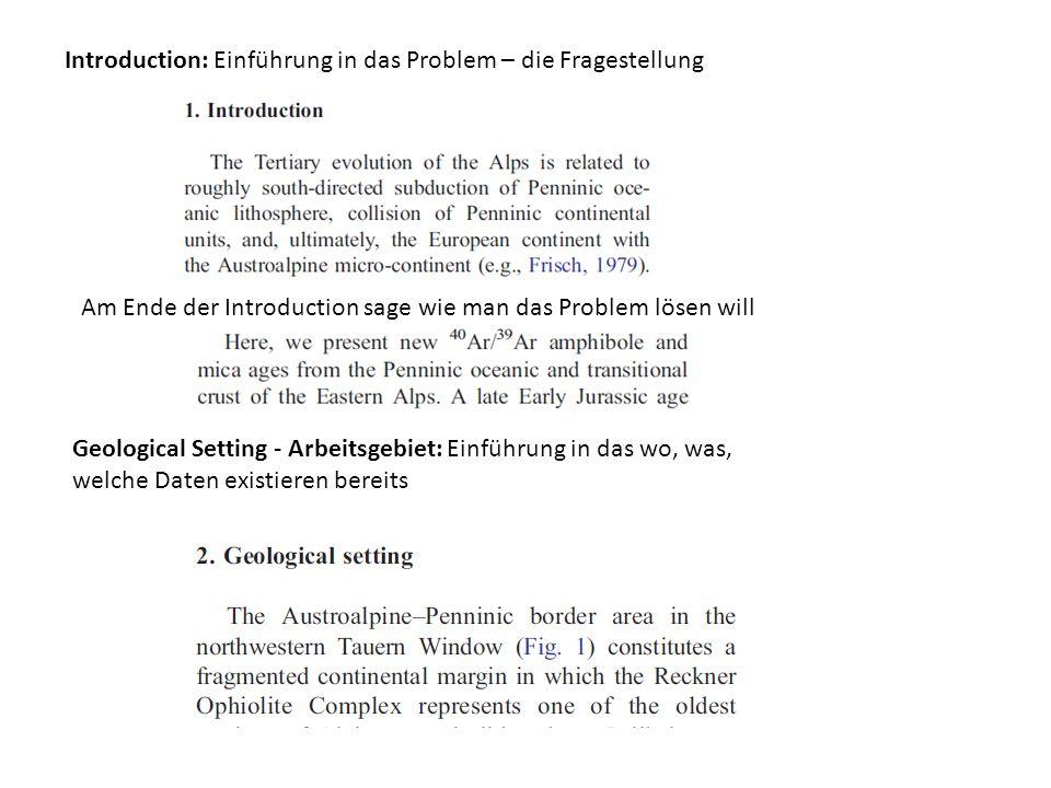 Introduction: Einführung in das Problem – die Fragestellung