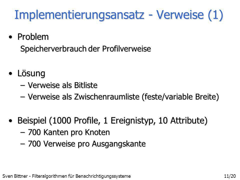 Implementierungsansatz - Verweise (1)