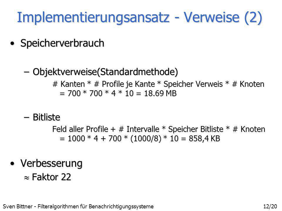 Implementierungsansatz - Verweise (2)
