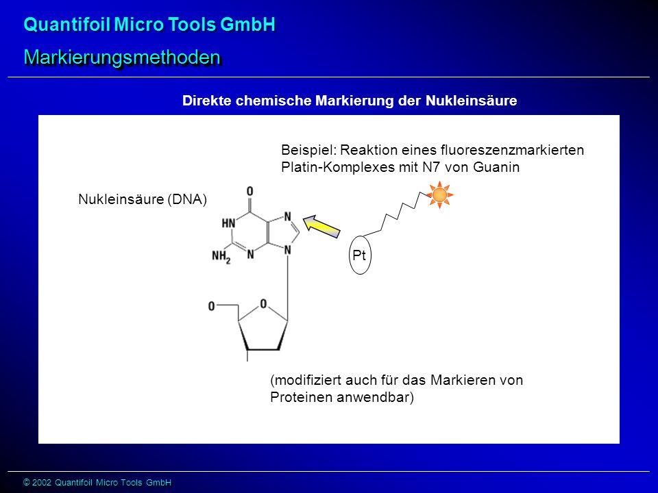 Markierungsmethoden Direkte chemische Markierung der Nukleinsäure