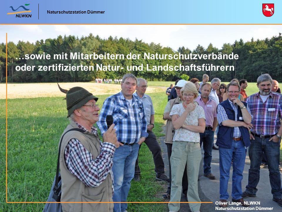 …sowie mit Mitarbeitern der Naturschutzverbände