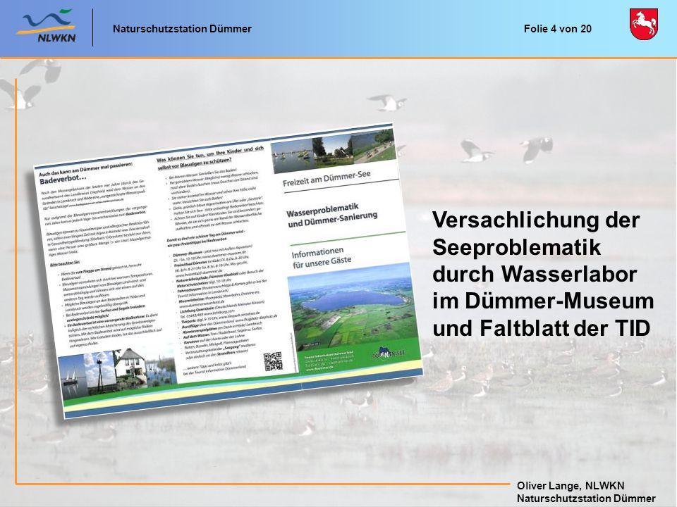 Versachlichung der Seeproblematik durch Wasserlabor im Dümmer-Museum