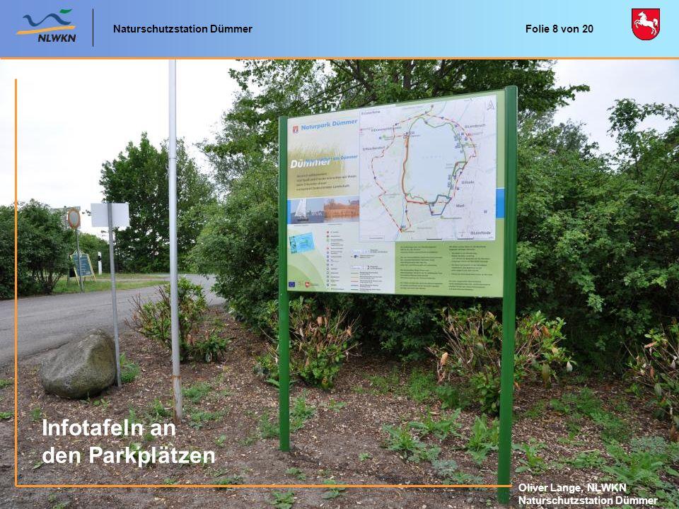 Infotafeln an den Parkplätzen Naturschutzstation Dümmer
