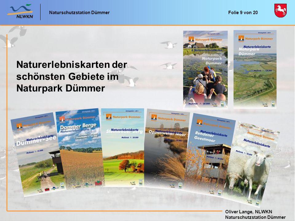 Naturerlebniskarten der schönsten Gebiete im Naturpark Dümmer