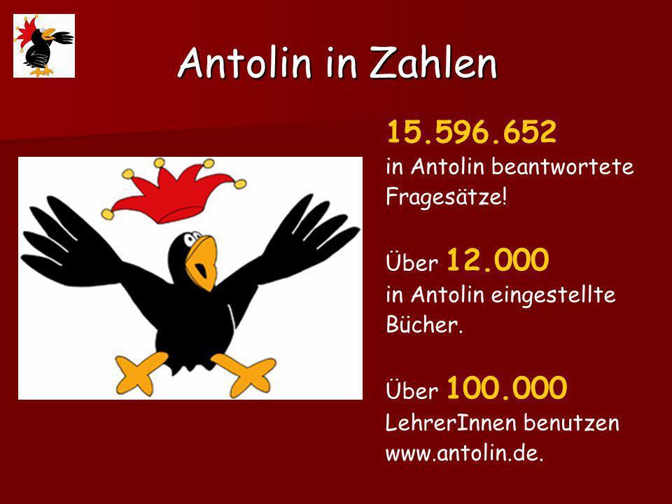 Antolin in Zahlen 15.596.652 in Antolin beantwortete Fragesätze!