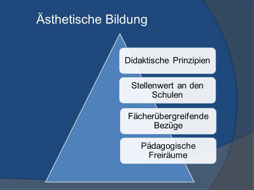 Ästhetische Bildung Stellenwert an den Schulen Didaktische Prinzipien