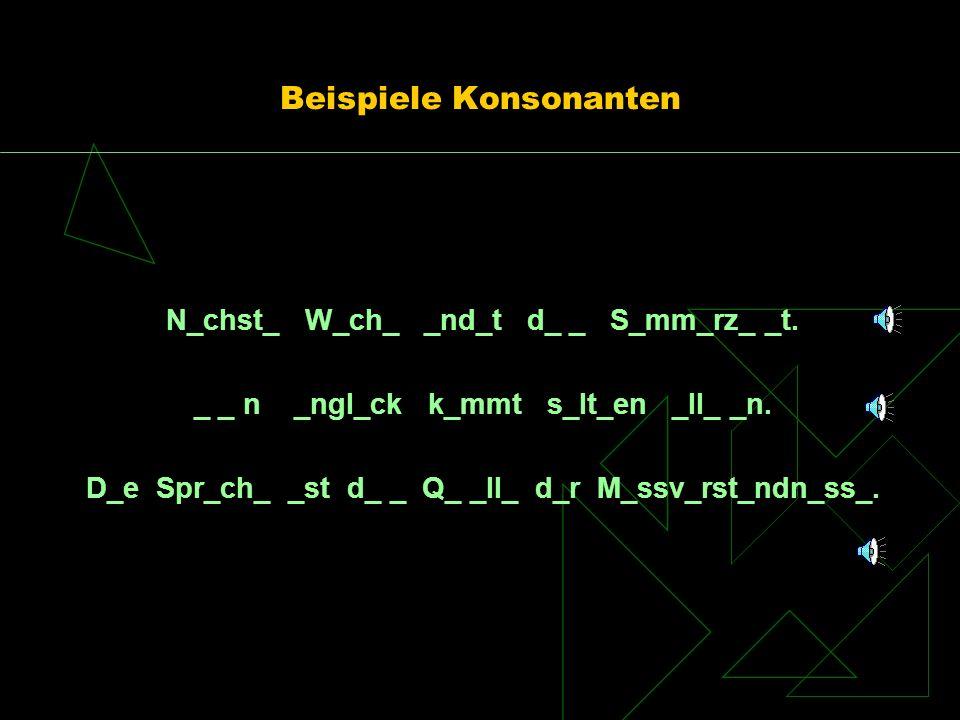 Beispiele Konsonanten