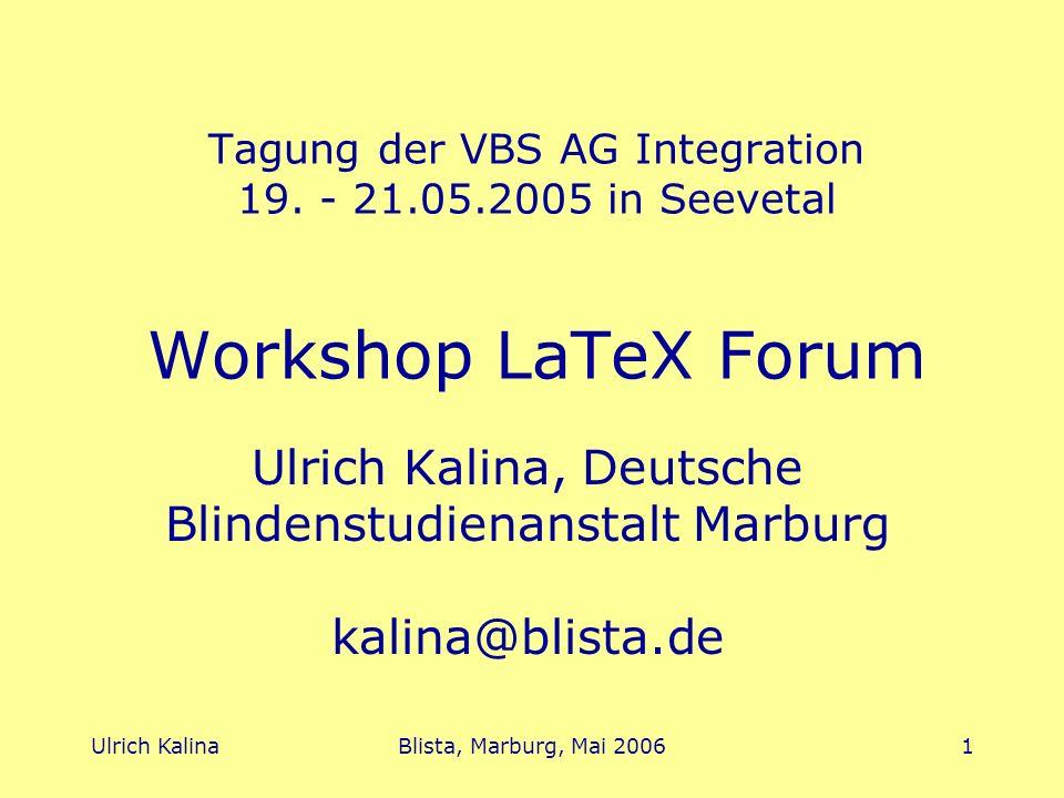 Ulrich Kalina, Deutsche Blindenstudienanstalt Marburg kalina@blista.de