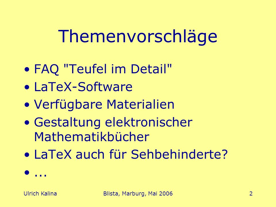 Themenvorschläge FAQ Teufel im Detail LaTeX-Software