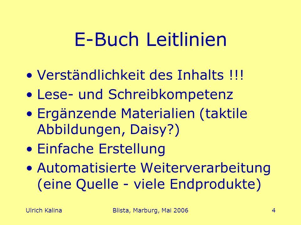 E-Buch Leitlinien Verständlichkeit des Inhalts !!!