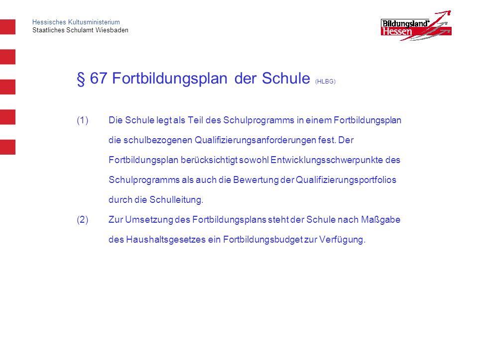 § 67 Fortbildungsplan der Schule (HLBG)