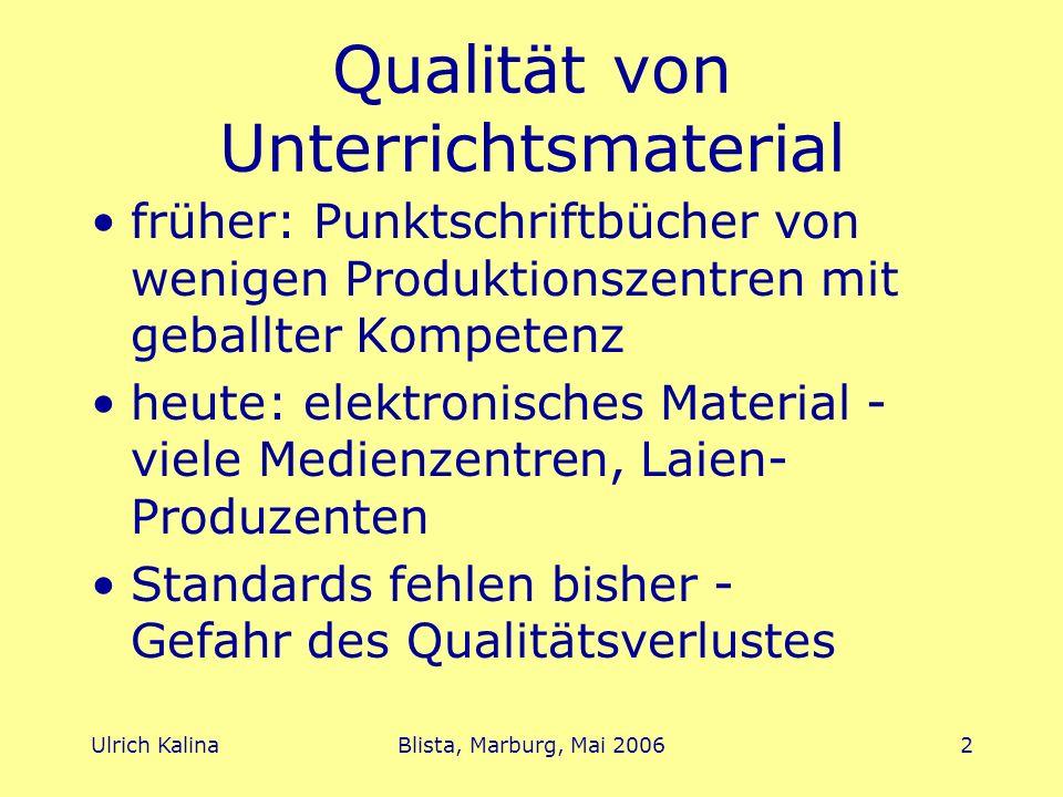 Qualität von Unterrichtsmaterial
