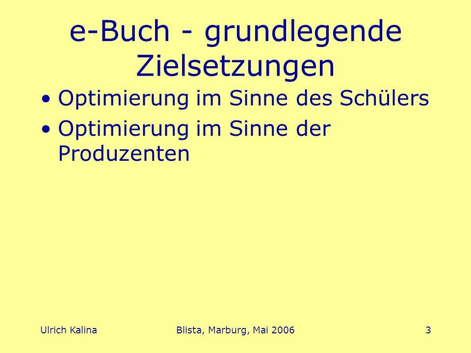e-Buch - grundlegende Zielsetzungen