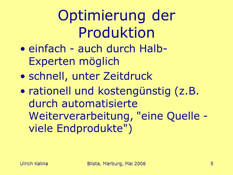 Optimierung der Produktion