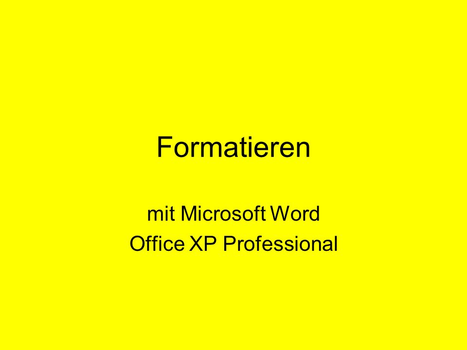 mit Microsoft Word Office XP Professional