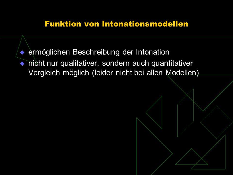 Funktion von Intonationsmodellen