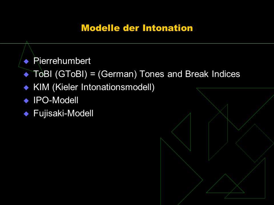 Modelle der Intonation