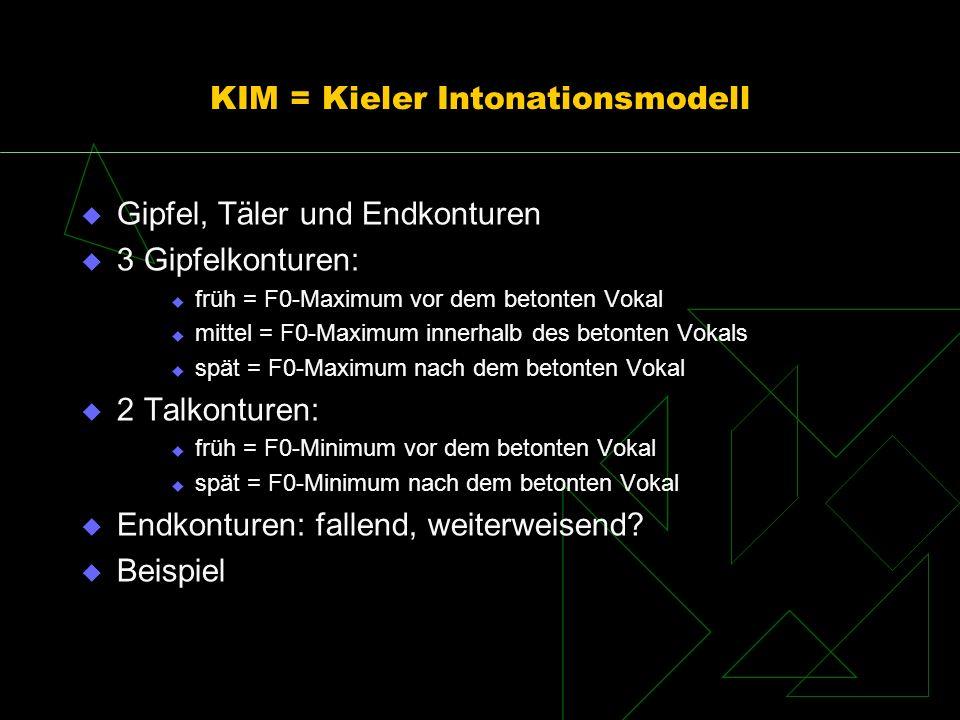 KIM = Kieler Intonationsmodell