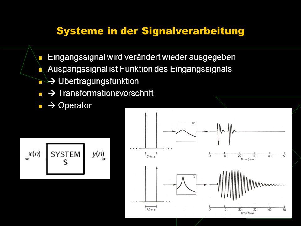 Systeme in der Signalverarbeitung