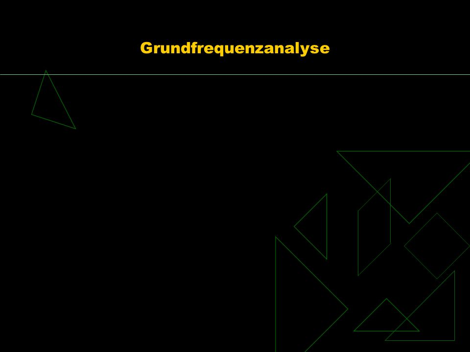 Grundfrequenzanalyse