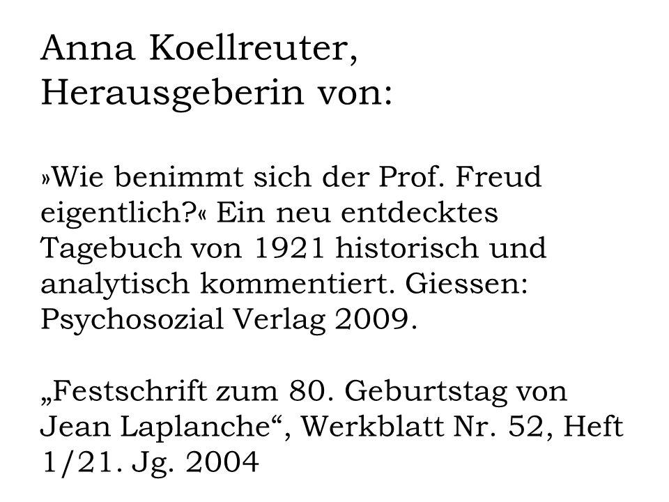 Anna Koellreuter, Herausgeberin von: »Wie benimmt sich der Prof