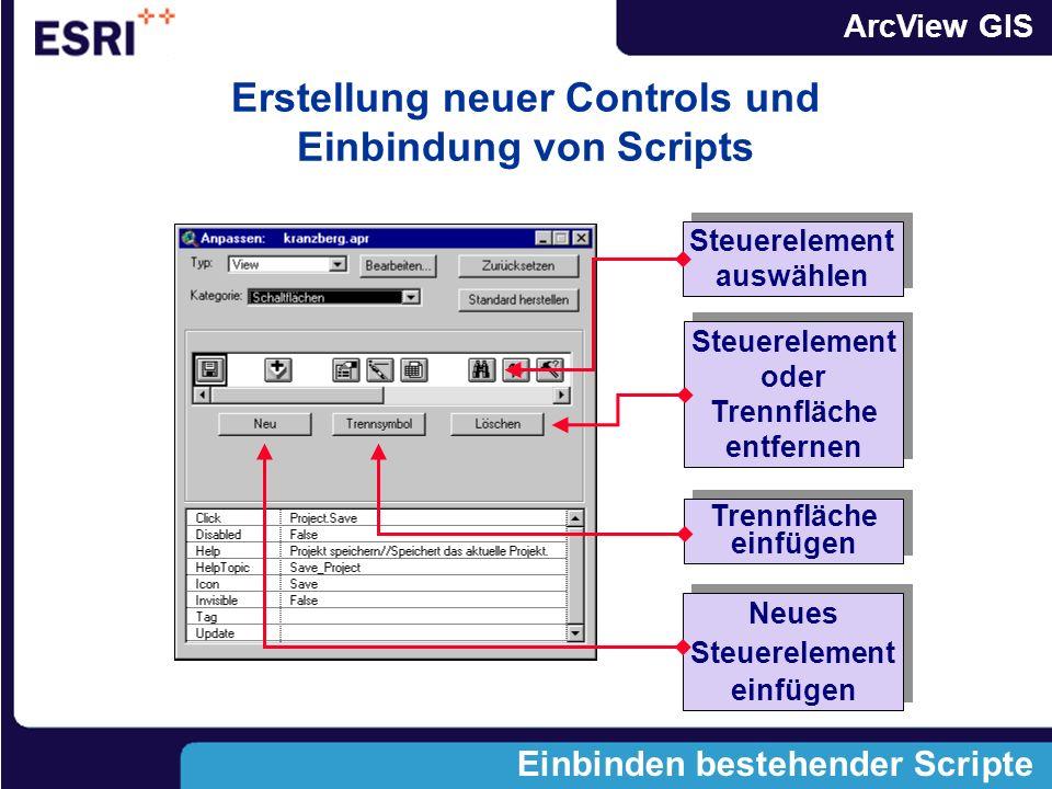 Erstellung neuer Controls und Einbindung von Scripts