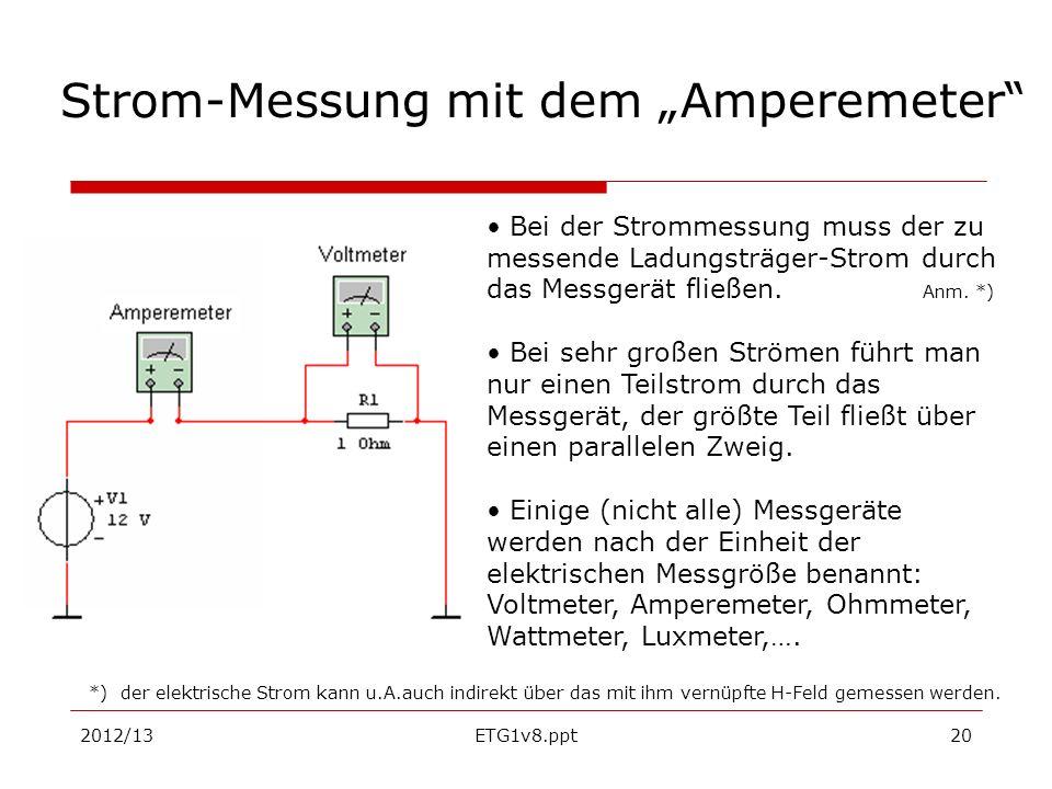 """Strom-Messung mit dem """"Amperemeter"""