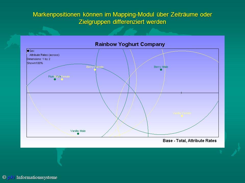 Markenpositionen können im Mapping-Modul über Zeiträume oder Zielgruppen differenziert werden
