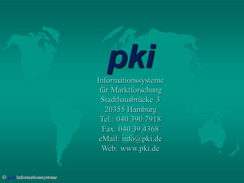 pki Informationssysteme für Marktforschung Stadthausbrücke 3