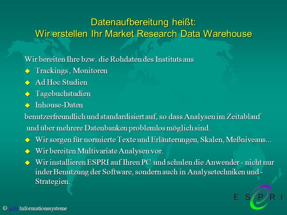 Datenaufbereitung heißt: Wir erstellen Ihr Market Research Data Warehouse