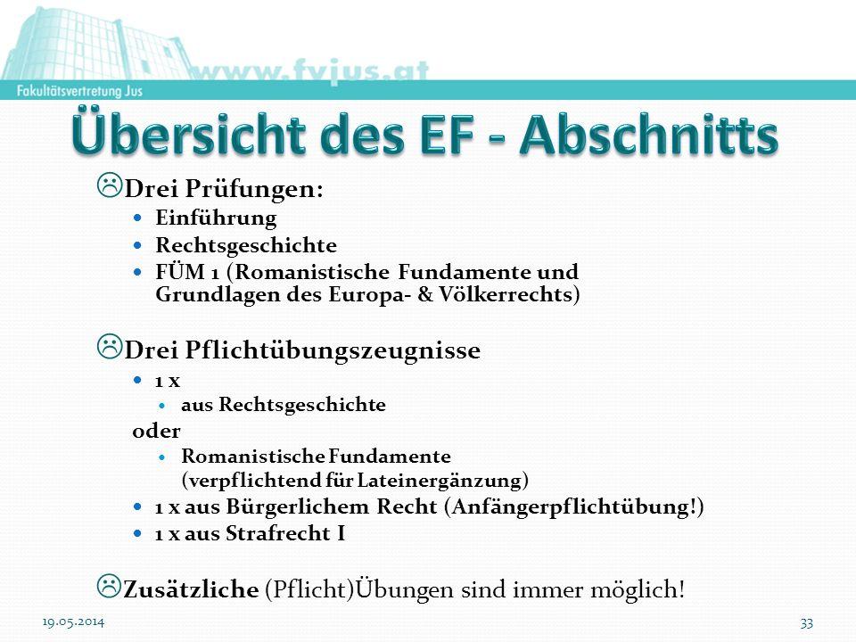 Übersicht des EF - Abschnitts