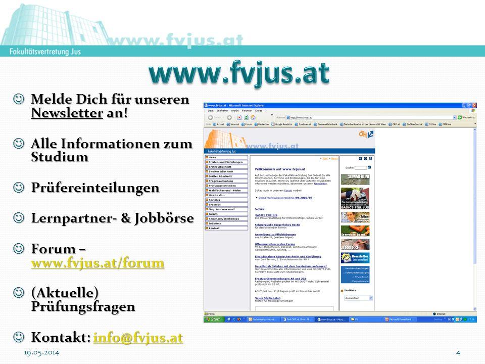 www.fvjus.at Melde Dich für unseren Newsletter an!