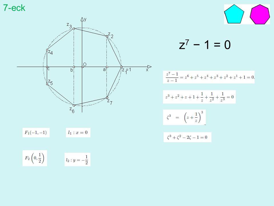 7-eck z7 − 1 = 0