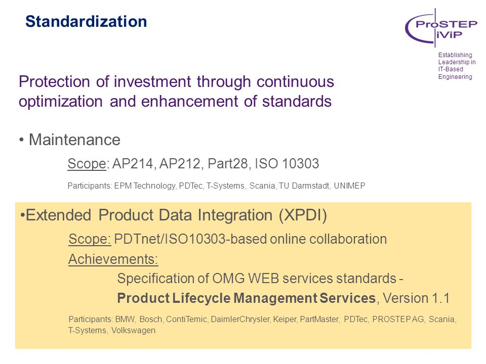 Extended Product Data Integration (XPDI)