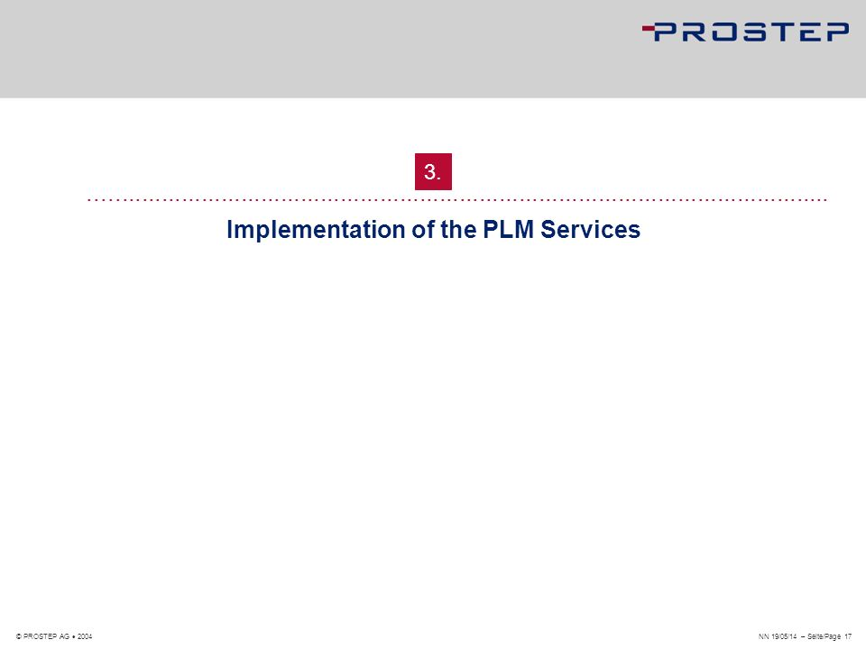 Implementation of the PLM Services
