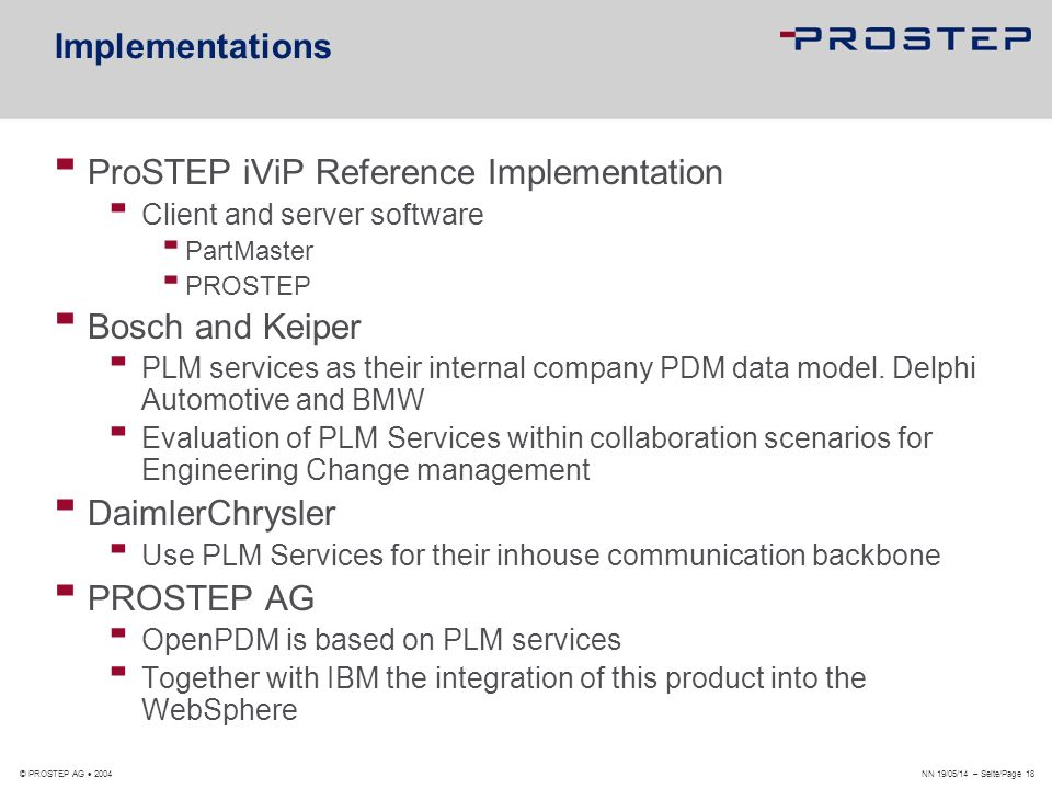 ProSTEP iViP Reference Implementation