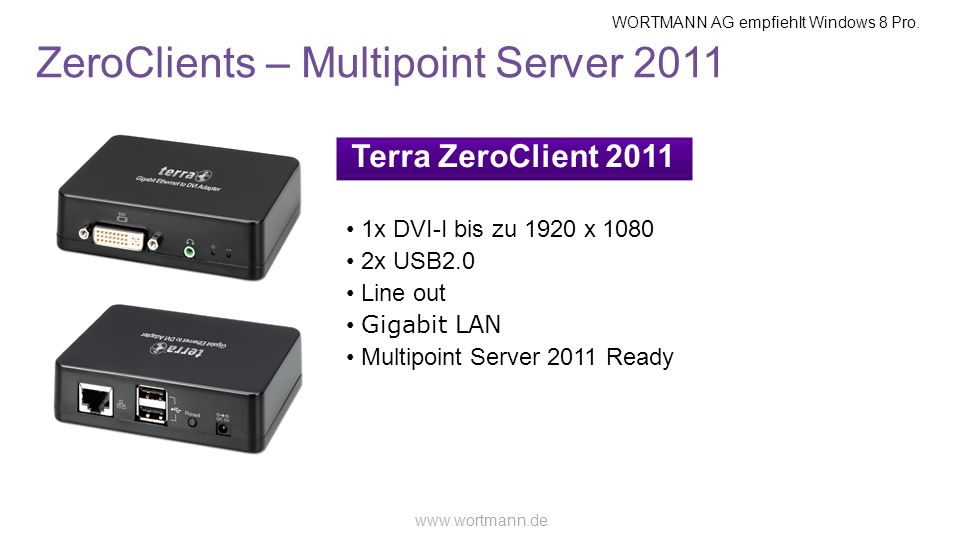 ZeroClients – Multipoint Server 2011