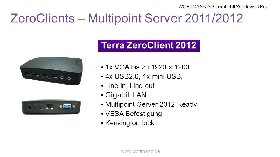 ZeroClients – Multipoint Server 2011/2012