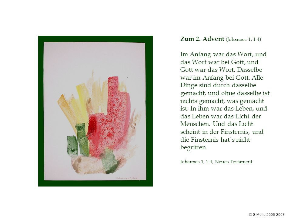Zum 2. Advent (Johannes 1, 1-4)